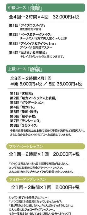 中級〜料金
